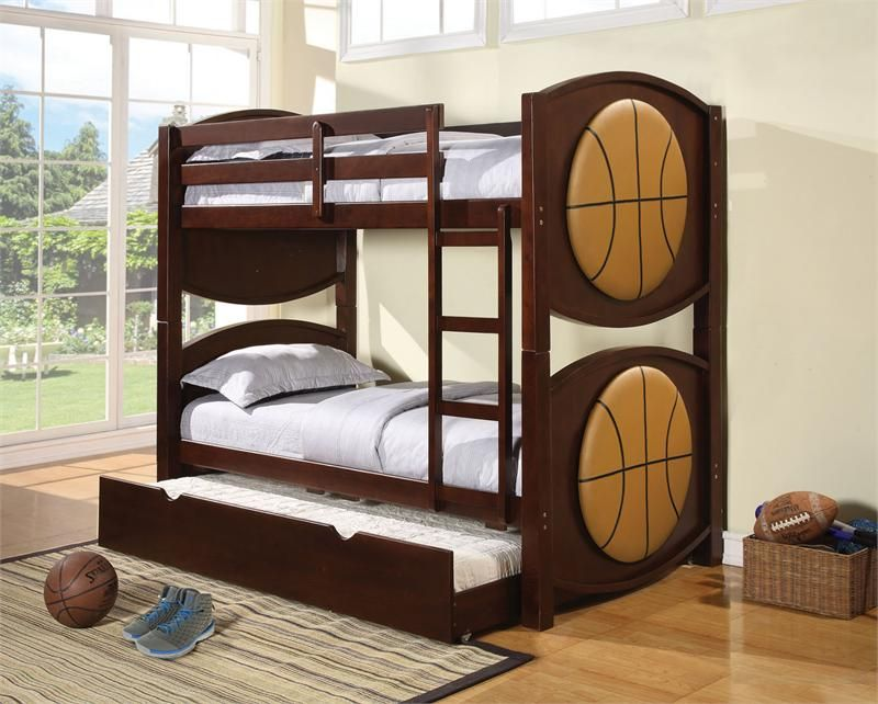 Optional kids bunk beds for your kids room kids bunk beds with trundle design boys beds - Double deck bed designs for small spaces pict ...