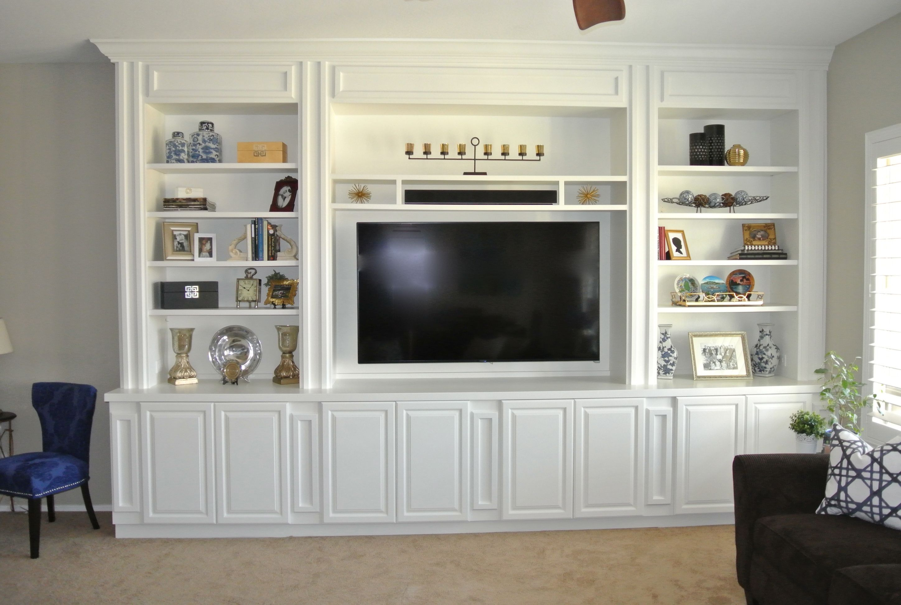 Live Style Love Designs a custom white built-in ...