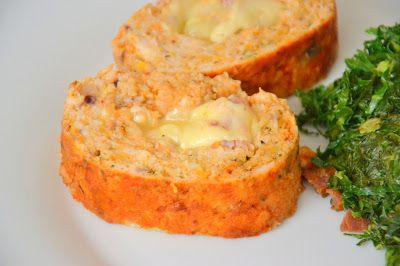 Palavras que enchem a barriga: Rolo de peru e cenoura recheado com queijo e presunto para uma moça caseirinha :)