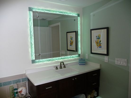 Master Bathroom Vanities Side Lit