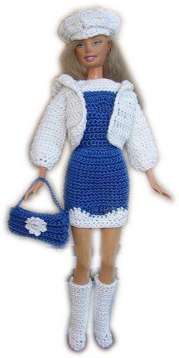 Pin von Rosi Balle auf Crochet.vestidos para Barby | Pinterest ...