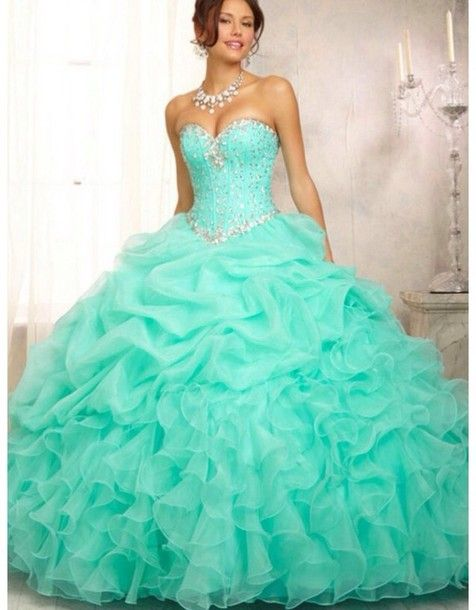 0afd7bf45c1 turquoise quinceanera dresses