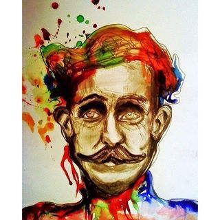 Billy Childish drawing, 2010 ✏️#drawing#inks#pencil#colour#painting#writer#billychildish#moustache#doodle#illustration#illustrator#art#artist#portrait#style#guy#man#artdealex