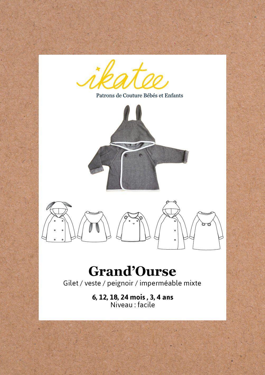 Pochette Patron De Couture Grand Ourse Gilet 6m 4a Grande Ourse Patron Gilet