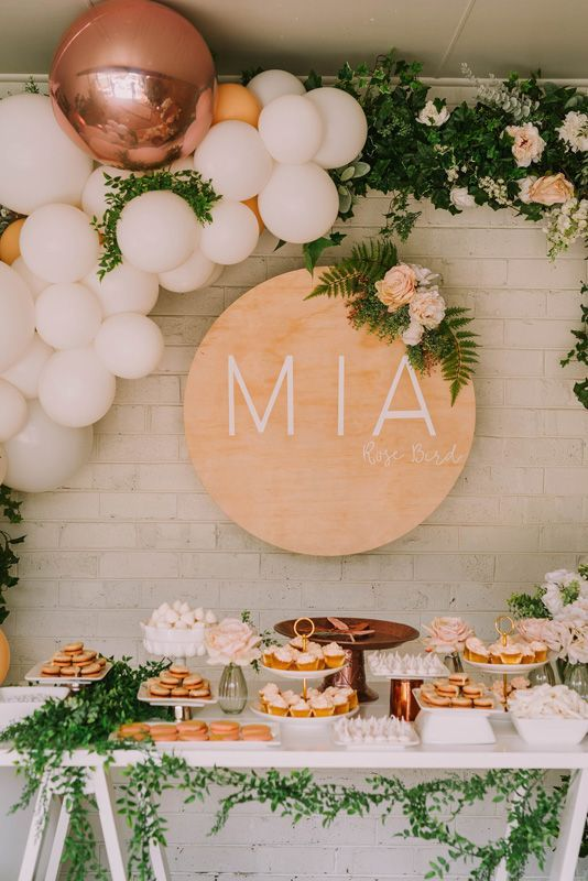 Mia S Rose Gold Garden Party Hooray Mag Backdrop Ideas