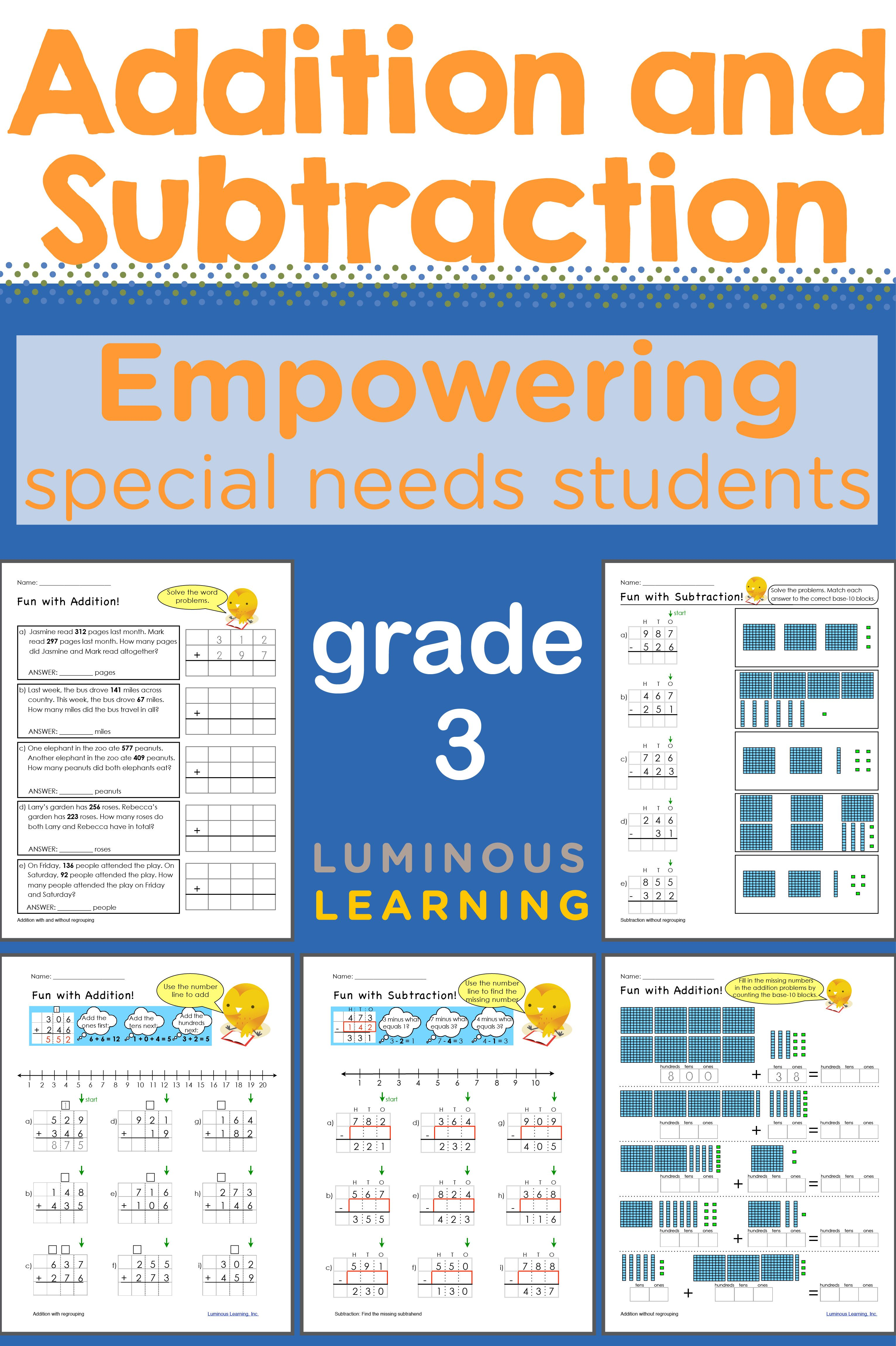 Luminous Learning Grade 3 Addition And Subtraction