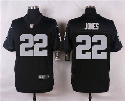 online store 1d4ce e81c7 Nike Oakland Raiders #22 Taiwan Jones Black Elite Jersey ...