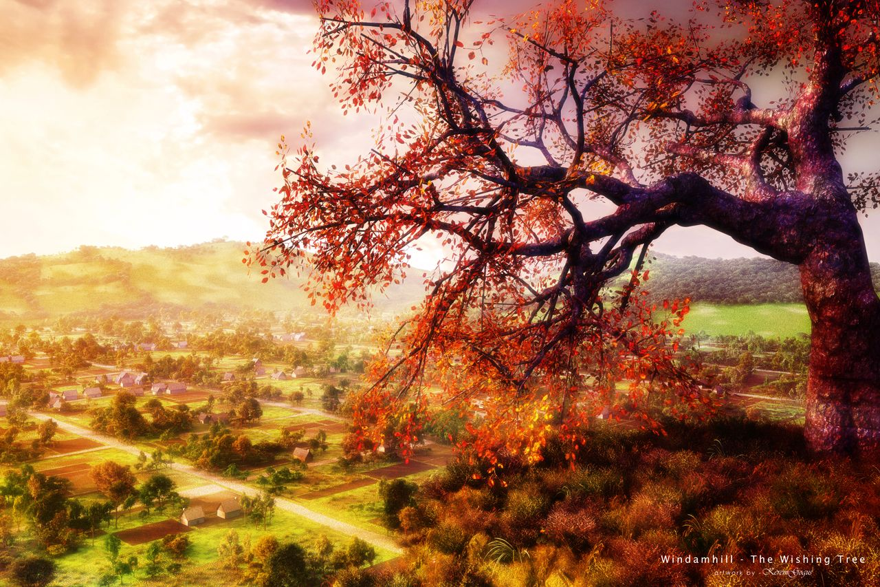 More similar stock images of 3d landscape with fall tree - The Wishing Tree Picture 3d Landscape Tree