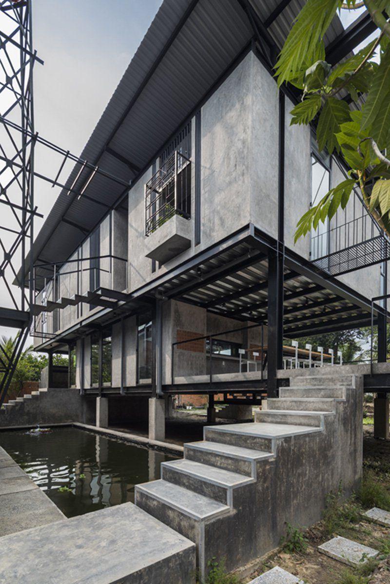 Photo of Truong An Architecture entwirft ein modernes Pfahlhaus für Künstler in Saigon, Vietnam