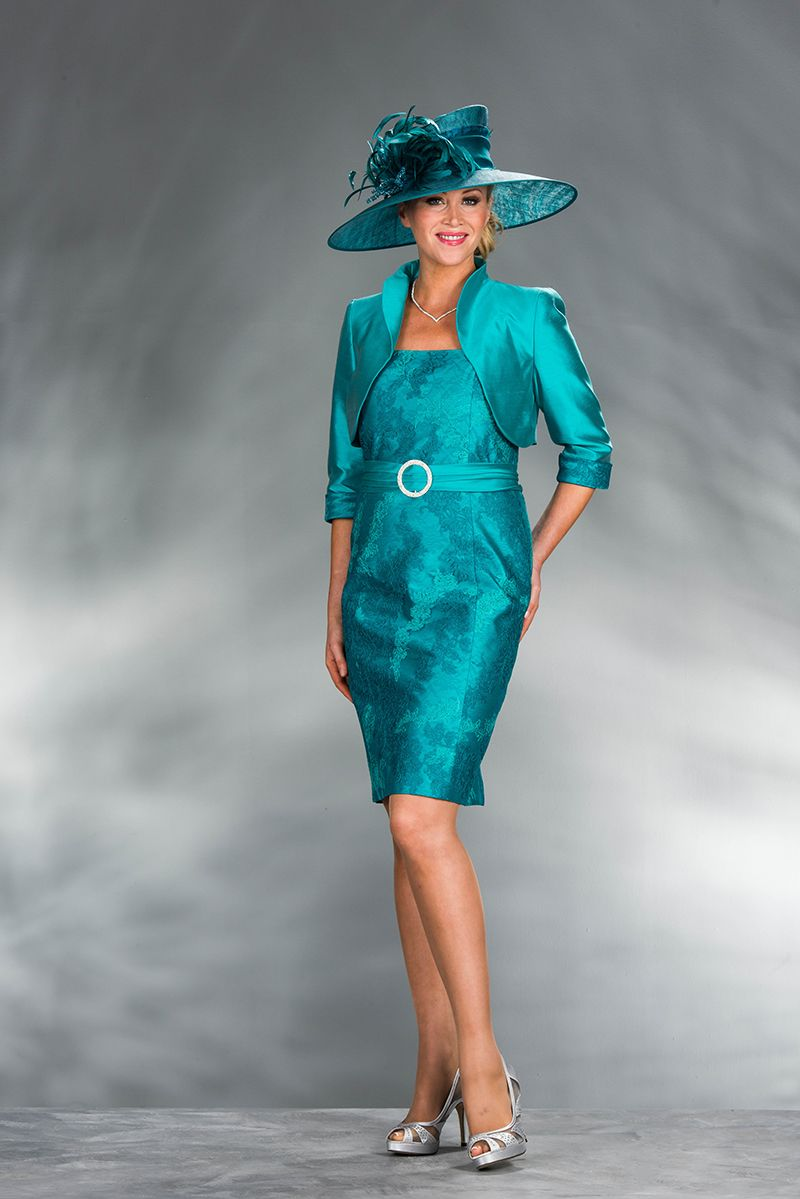 Short turquoise dress & bolero X62-D850: 18 - Catherines of Partick ...