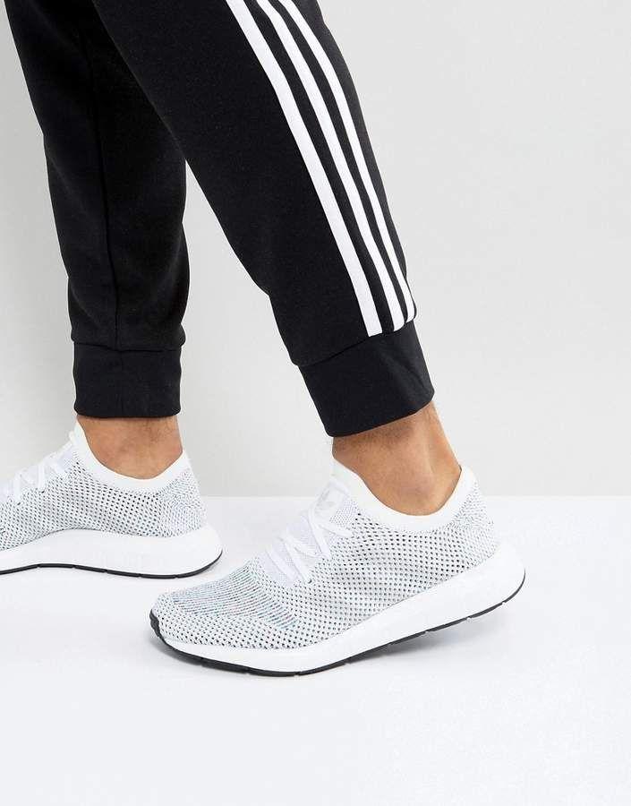 92715e096 adidas Originals Swift Run Primeknit Sneakers In White CG4126 ...