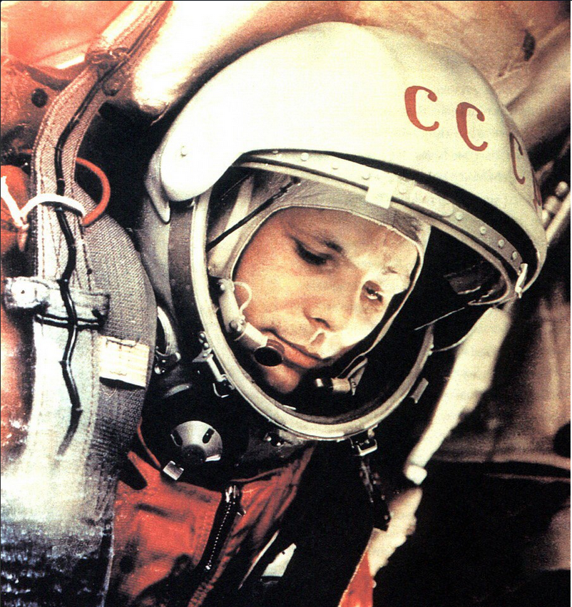 On this day, April 12th, 1961 Communist Yuriy Gagarin became the first man in space