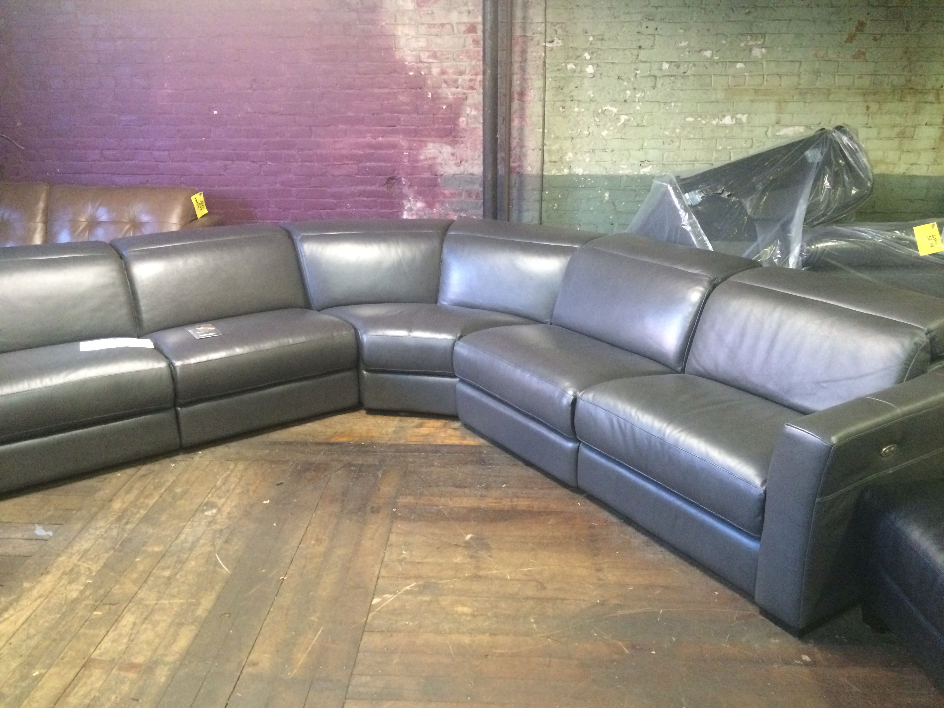 Chateau D ax Corisca 2pc Leather Sectional W RF Chaise This would
