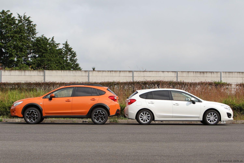 Subaru Crosstrek ground clearance vs Subaru Impreza. http