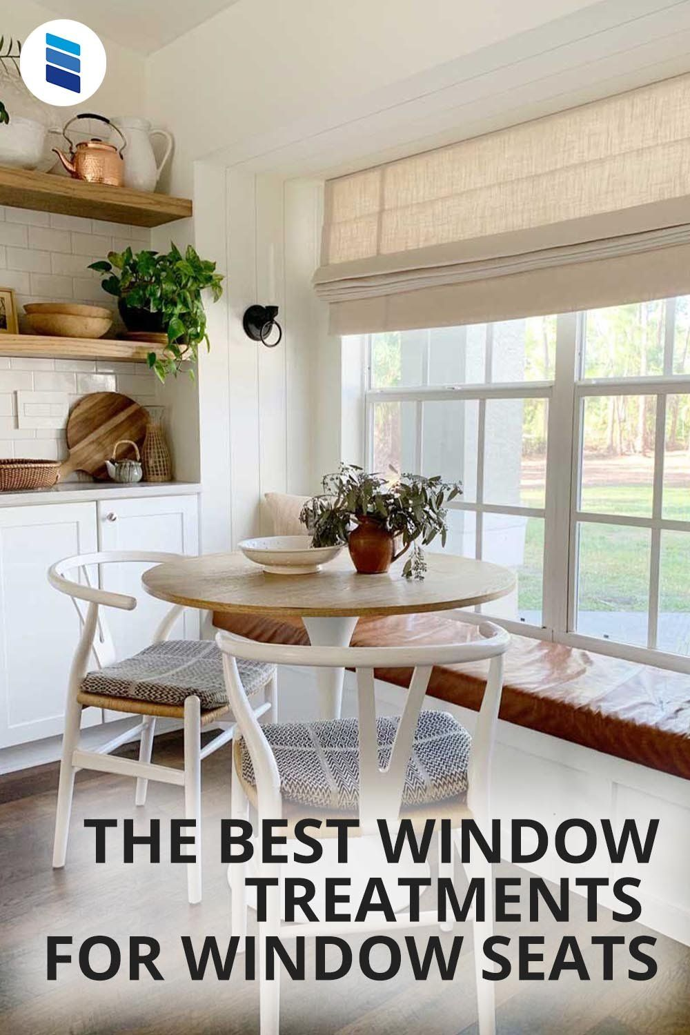 The Best Window Treatments For Window Seats Blinds Com Dining Room Window Treatments Window Seat Woven Wood Shades