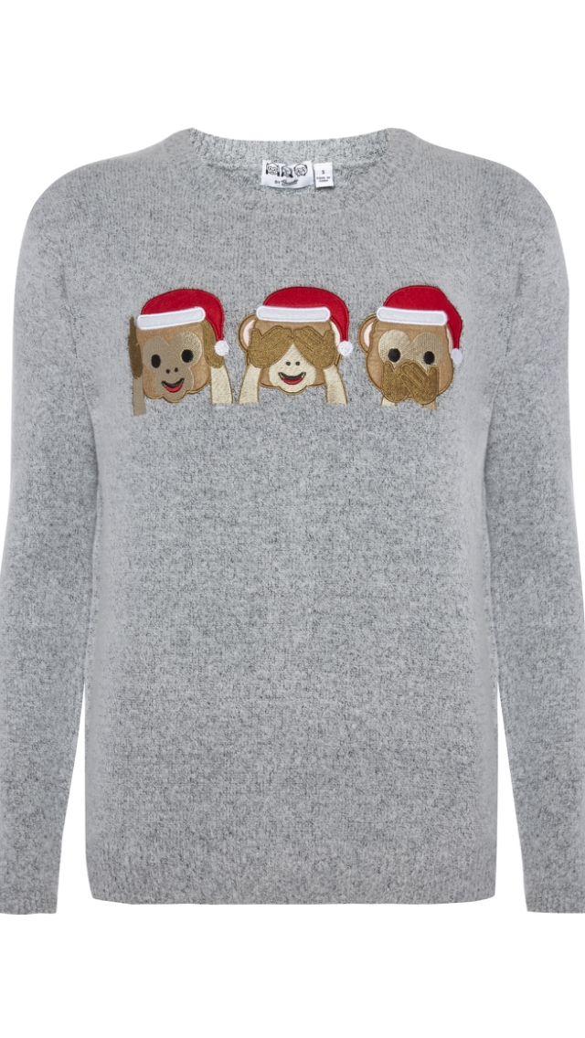 Primark 14 Monkey Emoji Christmas Hat Jumper Christmas Jumpers Christmas Outfit Christmas Sweaters