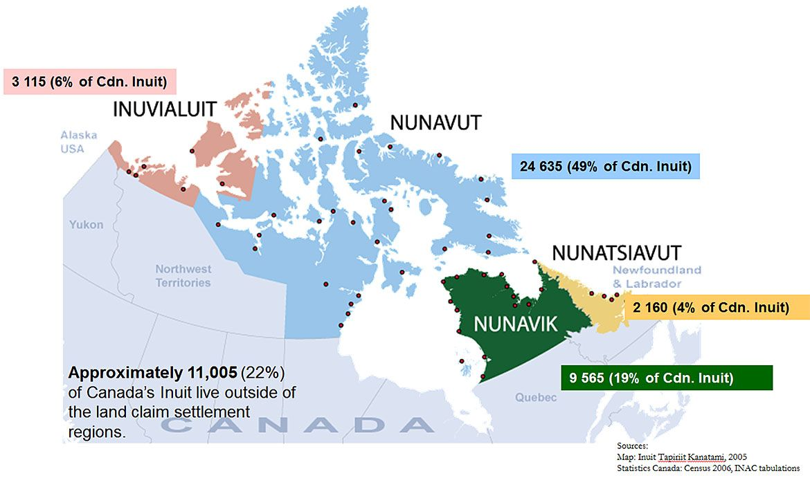 Inuit lands of canada by ca northern affairs map canada inuit inuit lands of canada by ca northern affairs map canada inuit gumiabroncs Images