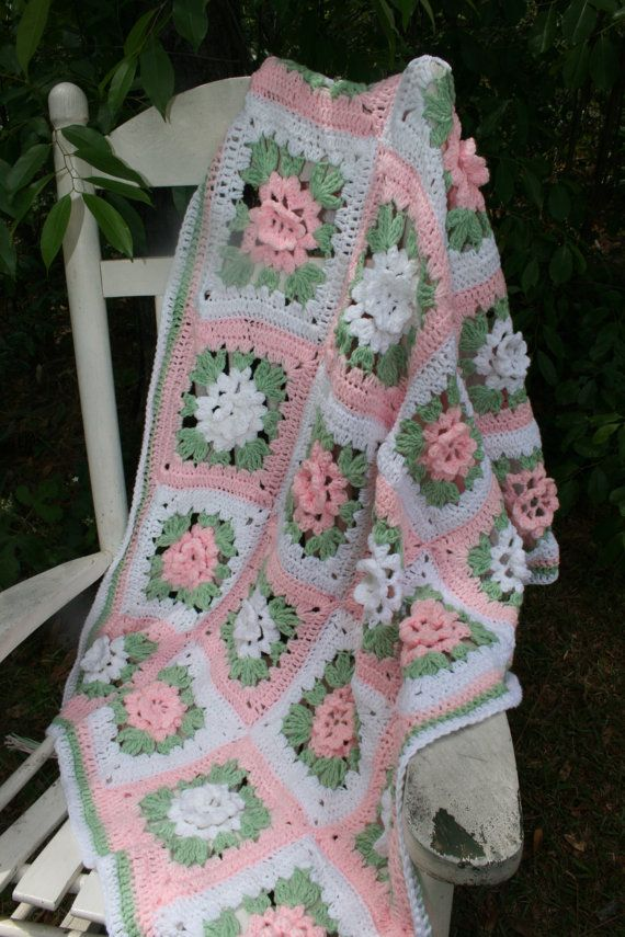 Made to Order Crochet Baby Blanket Afghan Granny by stitchwithme ...