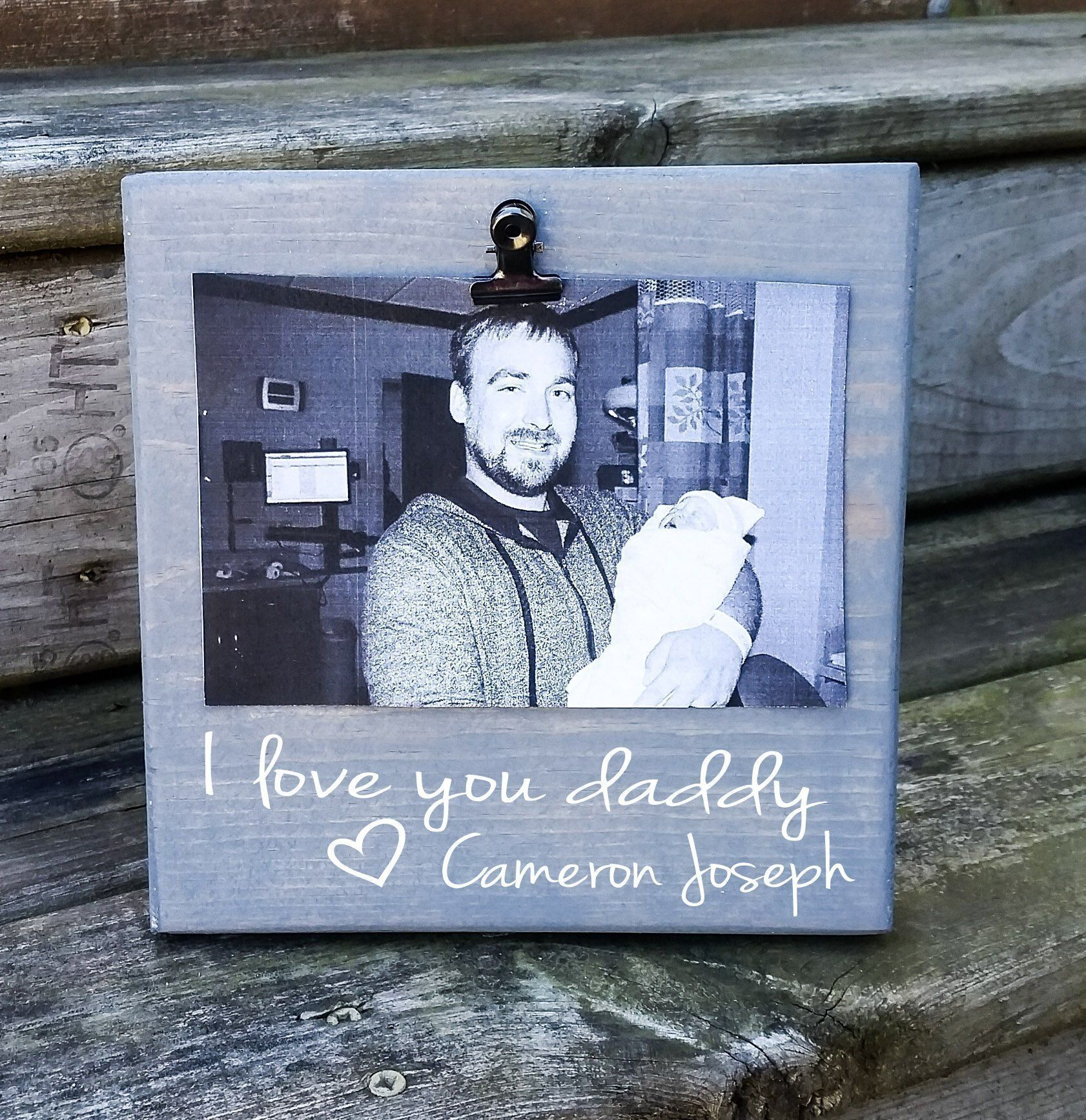 Fathers Day Picture Frame Gift Gift For Dad Photo Board Picture