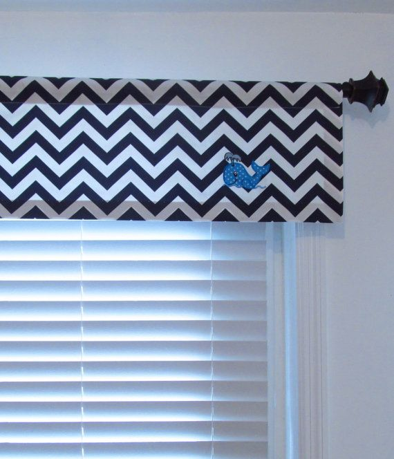Made To Order Whale Valance Baby S Nursery Navy Blue By Oldstation