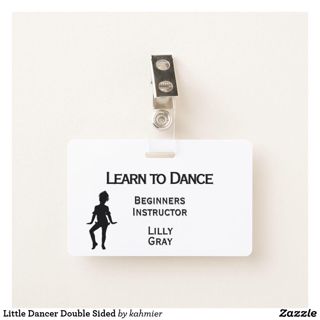 Little Dancer Double Sided Badge