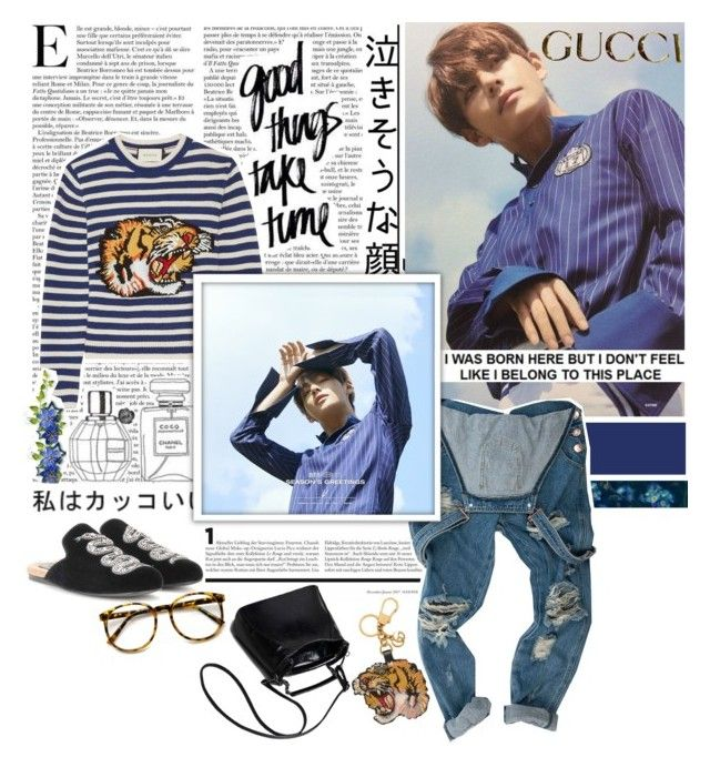 """""""good things take time"""" by the-neon-rose ❤ liked on Polyvore featuring Gucci, gucci, btspolyvorearmy and taehyungforgucci"""