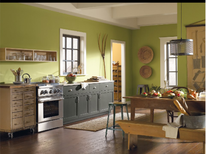 Color Bamboo Shoot Green Kitchen Walls Green Kitchen Paint Green Kitchen Designs