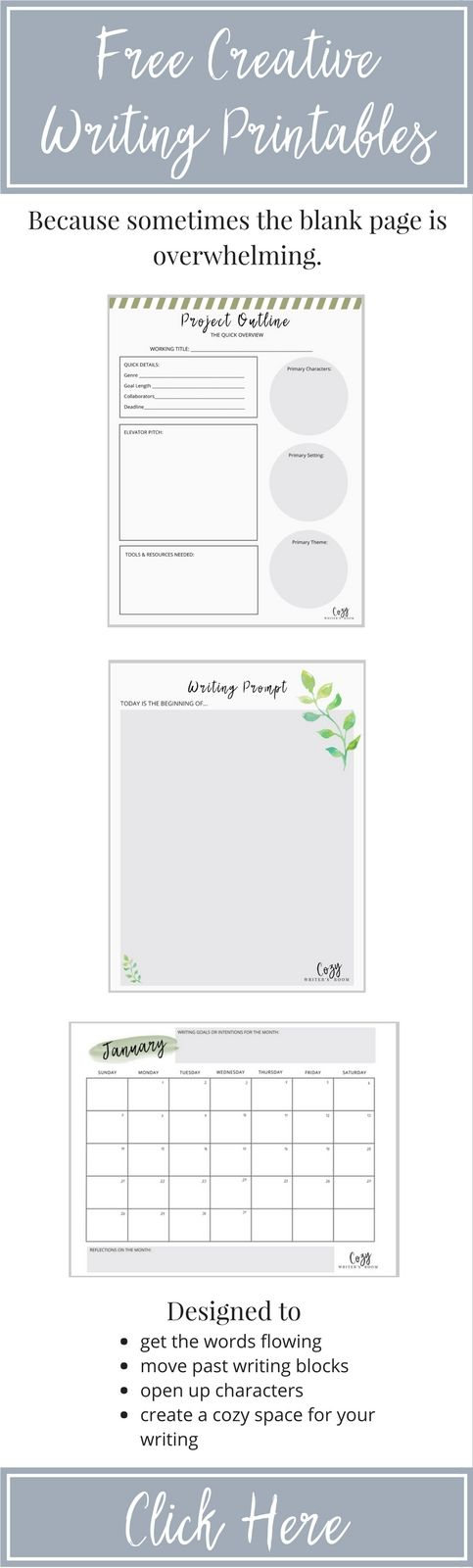 Free Creative Writing Printables For Adults. Including Writing Prompts,  Project Printabl… Picture Writing Prompts, Writing Printables, Writing  Prompts For Writers