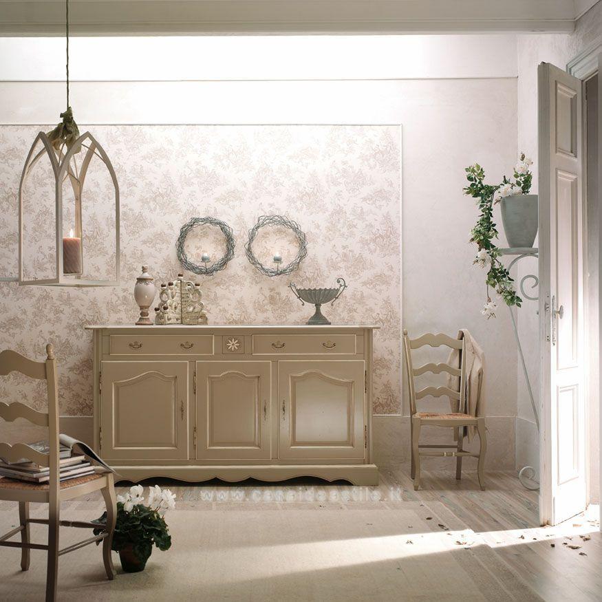 Credenza provenzale 3 ante 2 cassetti mobili shabby chic for Idea casa mobili