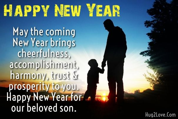 happy new year 2017 wishes for son with images send new year messages to son from mom and dad best greetings for sons to wish on the new year and