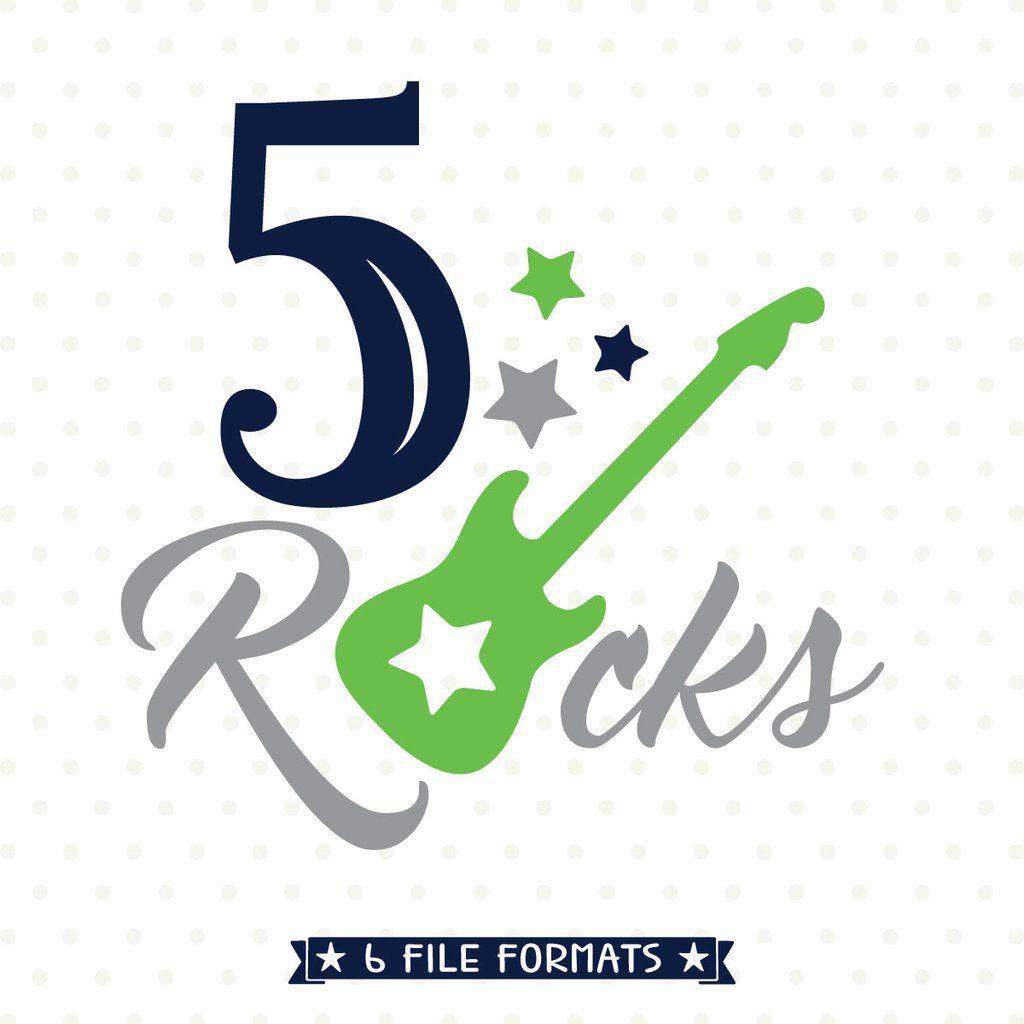 Boys 5th Birthday Rockstar Svg File Birthday Boy Shirts Rockstar Birthday Boy Birthday