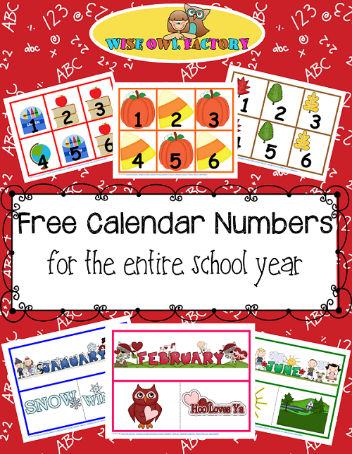 photograph about Preschool Calendars Printable called Complete Yr of Calendar Quantities Printable Totally free PDFs