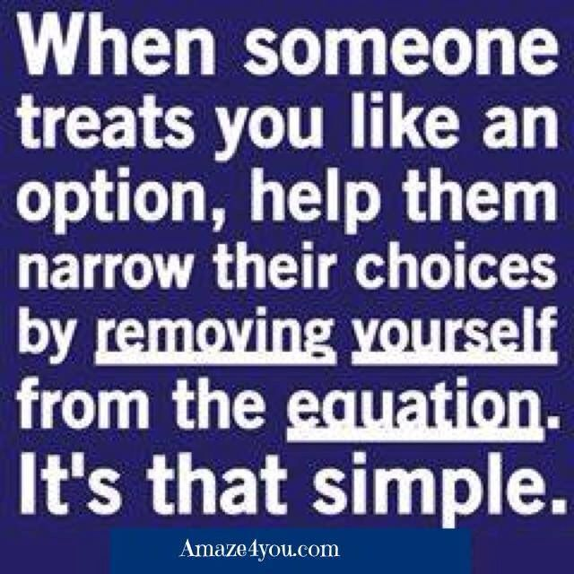 Don't be an option