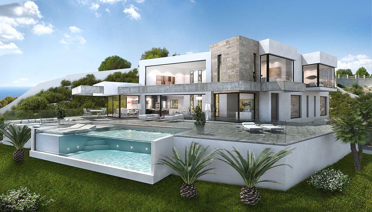 Einfamilienhaus vielleicht luxus häuser moderne häuser mein traumhaus traumhäuser mein haus zukunft haus glashaus