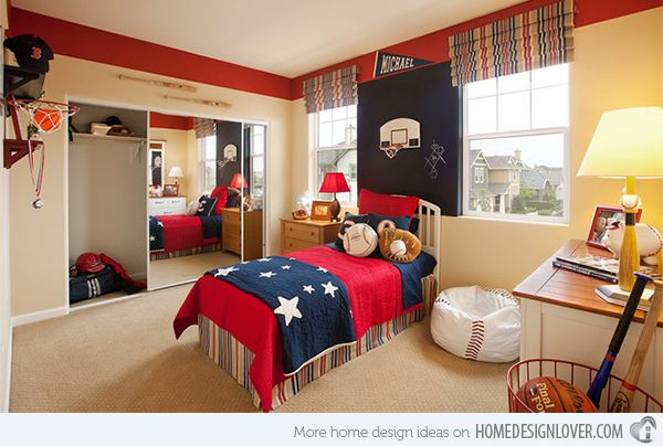 Elegant Get Athletic With 15 Sports Bedroom Ideas | Home Design Lover