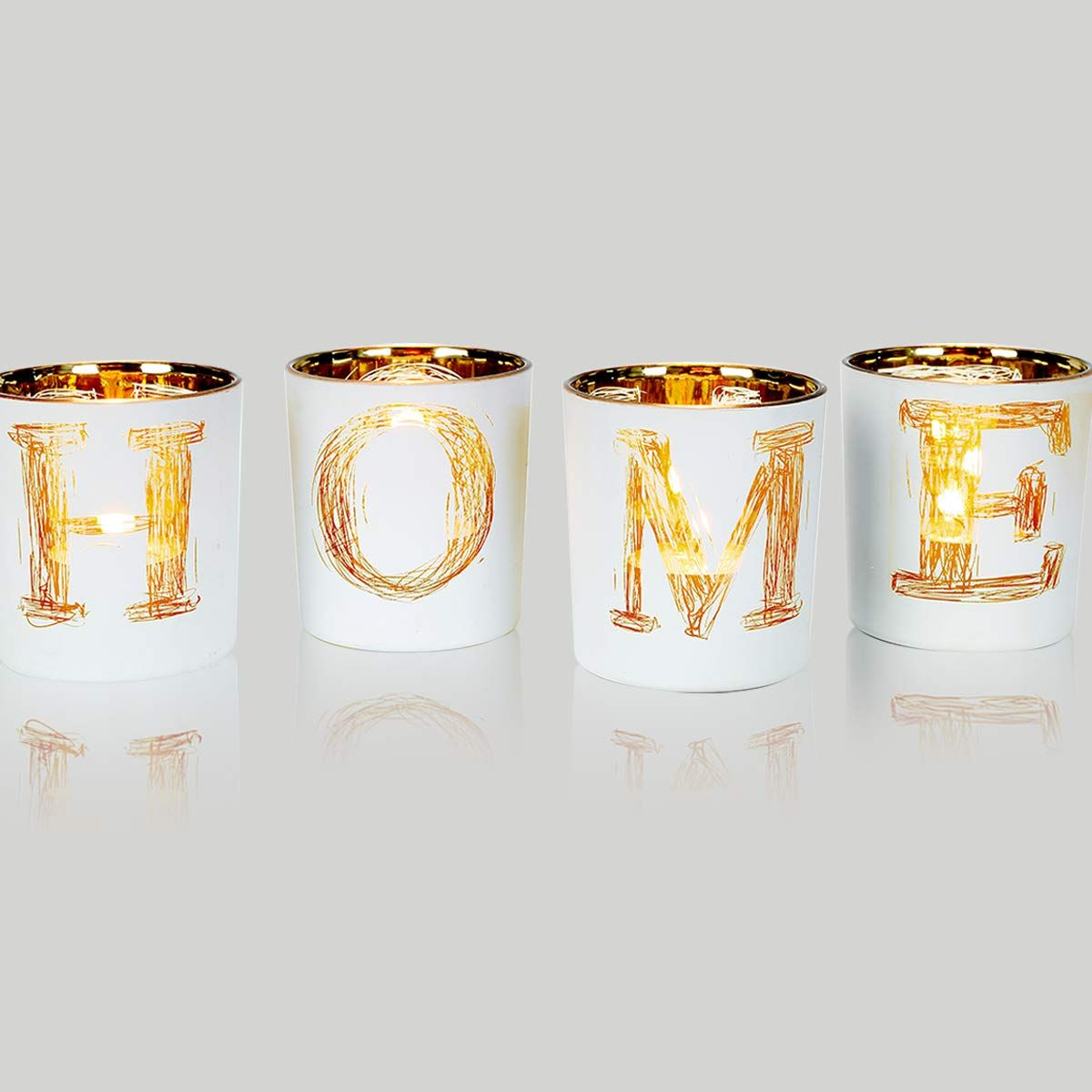 Lepecq Christmas Table Centerpieces Votive Candle Holders Home Decor Votive Candle Holder Set Christmas Decorative Tealight Candle Holders For Festival Day W Med