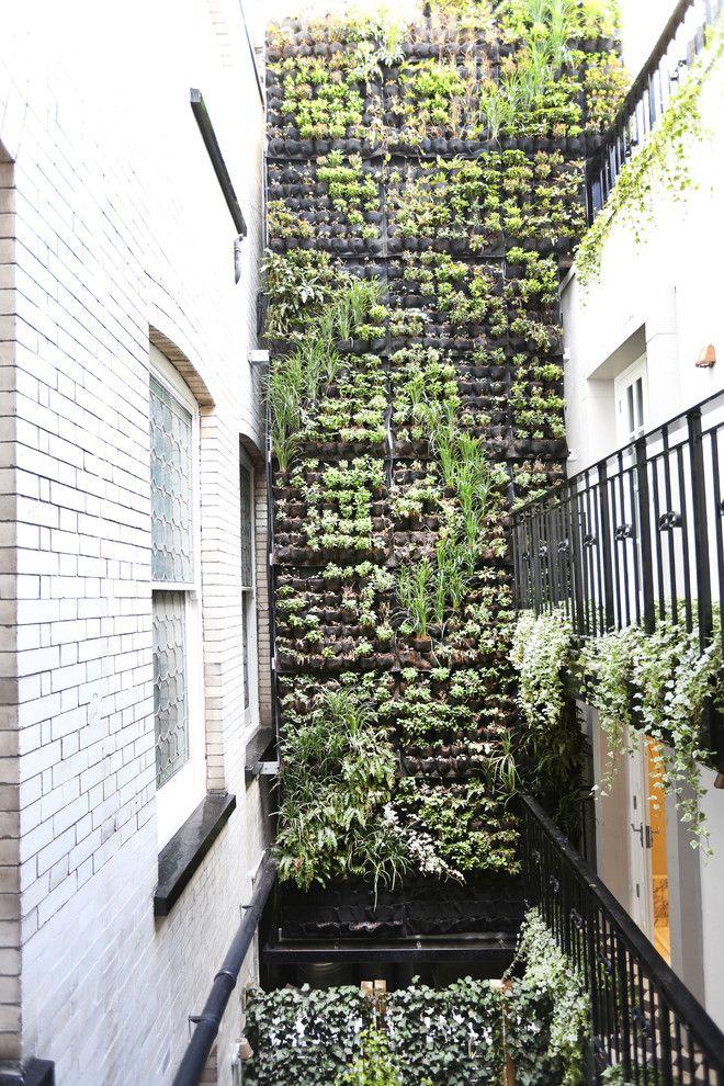 Modern Garden Design With Wall Surface Fountains Modern Garden