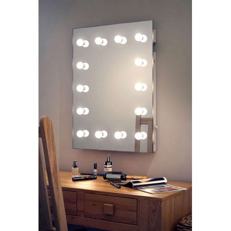 Vanity Mirror With Lights Walmart Fascinating Diamond X Wallmount Hollywood Makeup Mirror With Dimmable Led Decorating Design