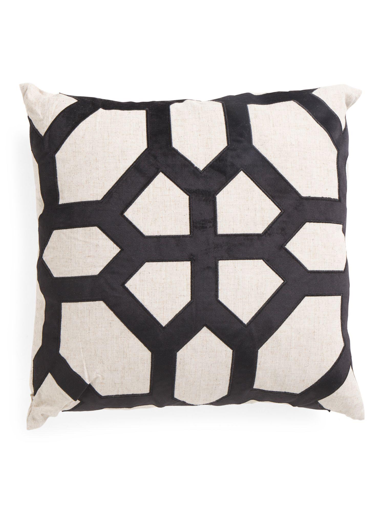 20x20 Parquet Faux Linen Pillow