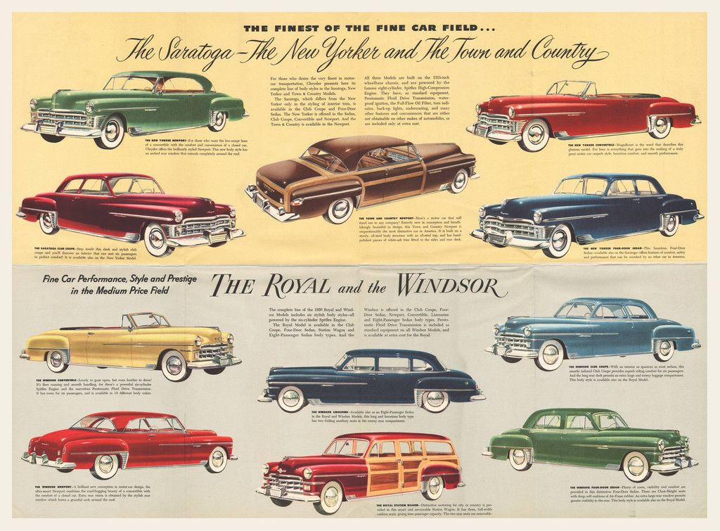 1950 Chrysler Sales Brochure Chrysler Car Advertising Car Ads