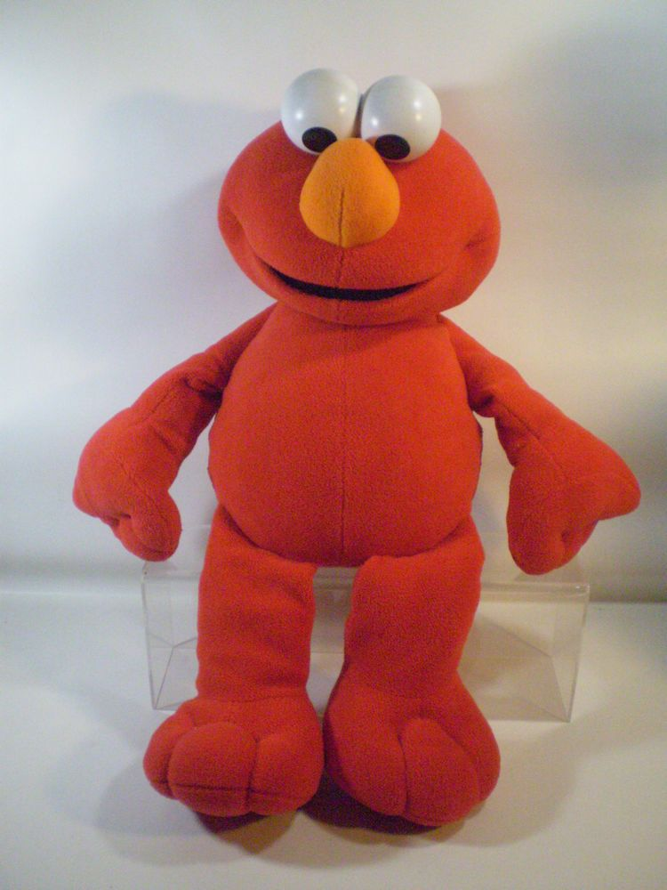 Elmo Plush Jumbo Doll Sesame Street Big Book Giant Red 28 Fisher
