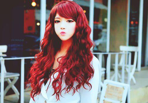 Ulzzang Red Hair Ullzang red hai...