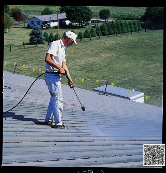 Conklin Elastomeric Foam Membrane White Roof Products And Installation Photos Metal Roof Repair Metal Roof Coating Roof Restoration