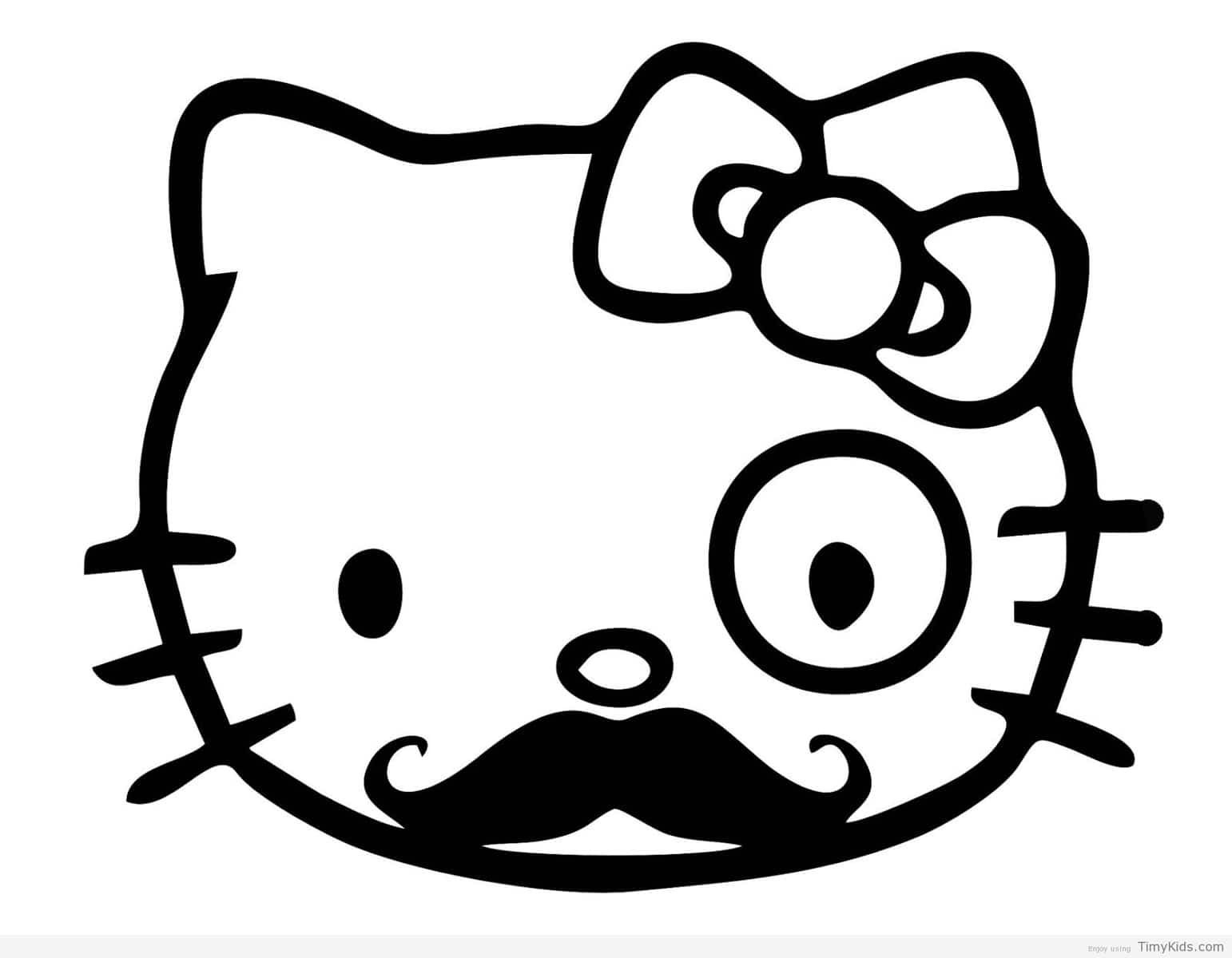 Timykids Hello Kitty Nerd Coloring Pages