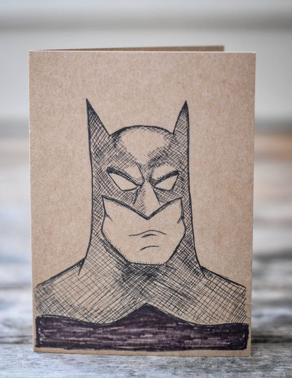 Batman birthday card hand drawn birthday card etsy projects batman birthday card hand drawn birthday card bookmarktalkfo Images
