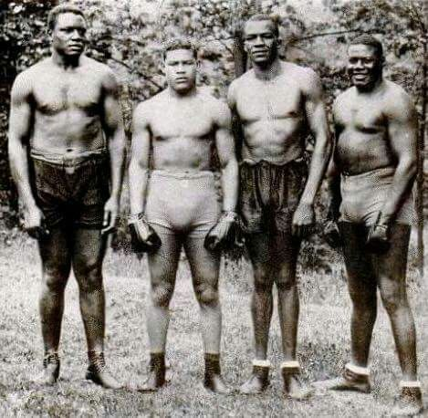 Joe louis and some of his sparing partners