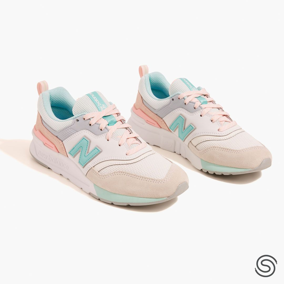 New Balance 997 Beige/Turquoise Dames in 2020 | Cute ...