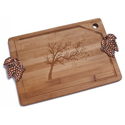 Chloe and Madison Autumn Tree Bamboo Cutting Board