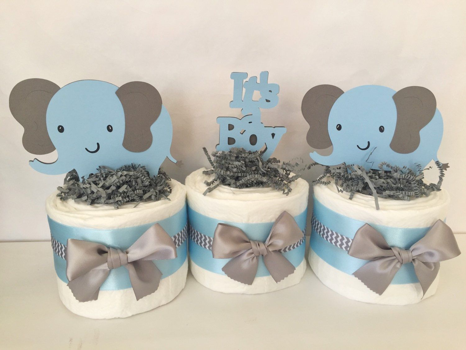 This Adorable Set Of 3 Mini Diaper Cakes Would Make The Perfect