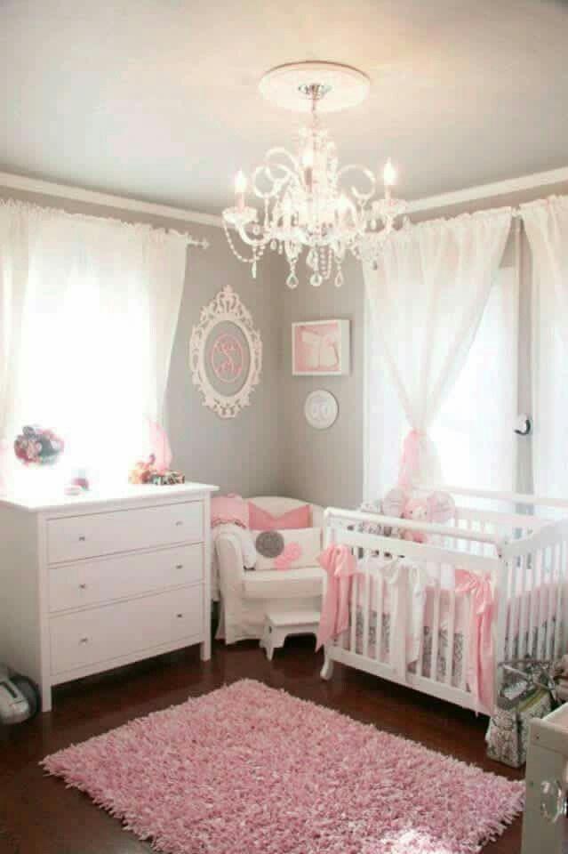 Kinderzimmer, Zimmer Für Kleine Mädchen, Babyzimer Mädchen, Baby  Schlafzimmer, Graue Säuglingszimmer, Babyjunge, Pink Und Grau, Weichen  Farben, Helle Farben